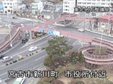 Footage of tsunami captured by the fixed-point cameras on the national highway