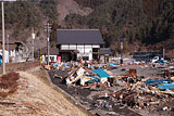 Iwate Tanohata Damage / Hiraiga / In front of Tanohata station