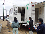 Iwate Rikuzentakata Liaison / Rikuzentakata / Machine for disaster response / Mobile command vehicle