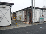 Miyagi Onagawa Temporary housing / Groung of Onogawadaiichi elementary school / State of moving into temporary housing