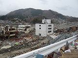 Miyagi Onagawa Damage / Sakuragaoka in the back of photo